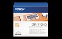 Original DK-11240 Versandetikettenrolle von Brother – Schwarz auf Weiß, Papier, 102 × 51mm