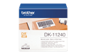 Genuine Brother DK-11240 Label Roll – Black on White, 102mm x 51mm