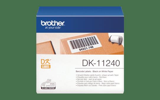 Originele Brother DK-11240 voorgestanst barcode label - papier – zwart op wit, 102 mm x 51 mm