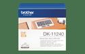 Oriģināls Brother DK-11240 marķēšanas lentes rullis melnas drukas balts, 102mmx51mm