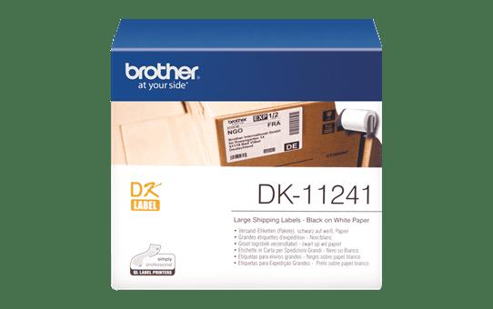 Brotherin alkuperäinen DK11241-rullatarra – Musta/valkoinen