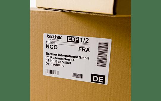 Eredeti Brother DK-11241 szalag tekercsben – Fehér alapon fekete, 102mm x 152mm 2