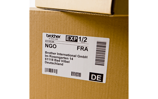 Original DK-11241 Versandetikettenrolle von Brother – Schwarz auf Weiß, Papier, 102 × 152mm 2