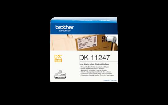 Brother DK-11247 Einzeletiketten – schwarz auf weiß