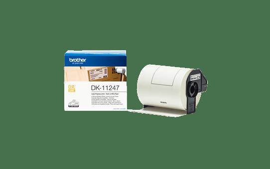 Brother original DK11247 store adresseetiketter i fast format, 103 mm x 164 mm - sort på hvit