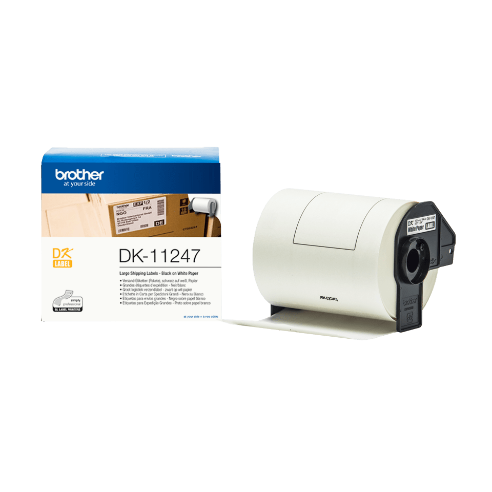 Genuine Brother DK-11247 Label Roll – Black on White, 103mm x 164mm 3