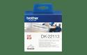 Brother original DK22113 fortlöpande etikettrulle med plastfilm, svart på genomskinlig, 62 mm 2