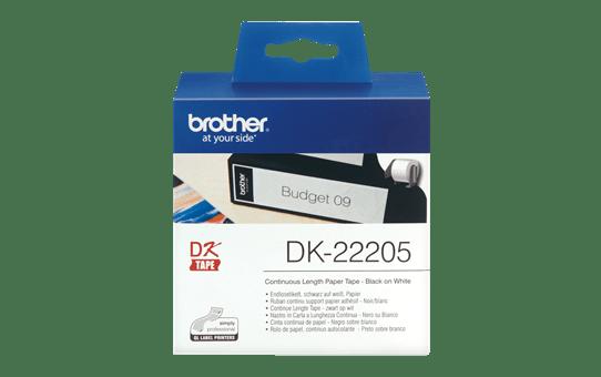 Brother  DK-22205 Fortlöpande papperstape – svart på vit, 62 mm bred