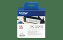 Brother DK22205: неразрезанная бумажная лента для печати наклеек черным на белом фоне, ширина: 62 мм.