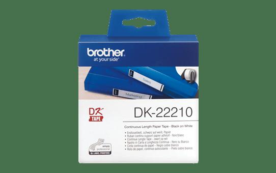 DK-22210 ruban continu papier blanc 29mm