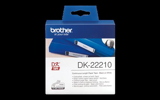 Brother DK-22210 Endlosetiketten – schwarz auf weiß