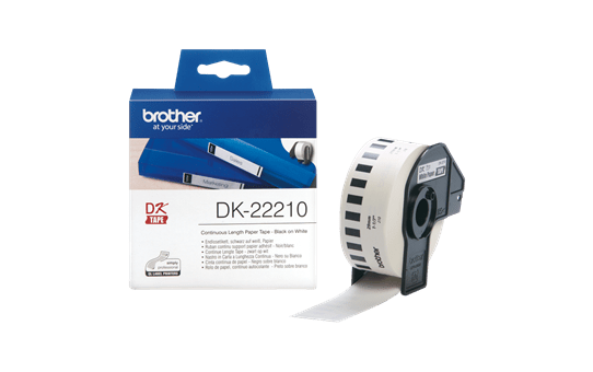 Genuine Brother DK-22210 Continuous Paper Label Roll – Black on White, 29mm wide 3