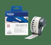 Original DK-22210 Endlosetikettenrolle von Brother – Schwarz auf Weiß, Papier, 29mm breit