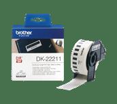 Original DK-22211 Etikettenrolle von Brother – Weiß, 29 mm x 15,24 m