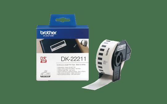 DK22211 - original hvid Brother-labelrulle med filmtape-labels 3