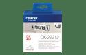 Brotherin alkuperäinen DK22212-rullatarra (filmiä) - Musta/valkoinen, 62 mm