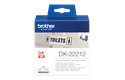 Original Brother DK22212 filmlabelrulle i endeløs bane – sort på hvid, 62 mm.