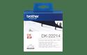 Original DK-22214 Endlosetikettenrolle von Brother – Schwarz auf Weiß, Papier, 12mm breit