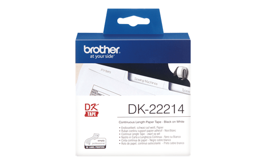 DK-22214 ruban continu papier blanc 12mm