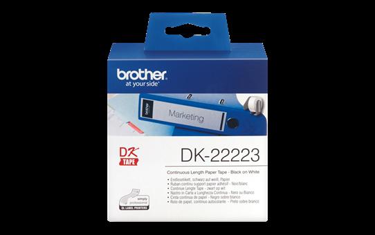 Brother original DK22223, etiketter på fortlöpande rulle, svart på vit, 50 mm