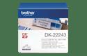 Rotolo di etichette di carta a lunghezza continua originale Brother DK-22243 – Nero su bianco, 102 mm di larghezza
