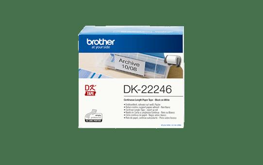 Brother DK-22246 Nastro originale adesivo in carta a lunghezza continua - Nero/Bianco