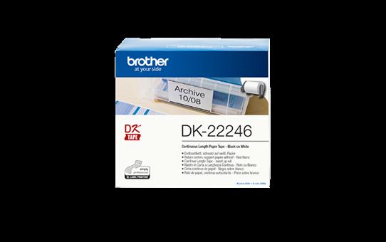 DK-22246 doorlopende rol wit papier 103mm
