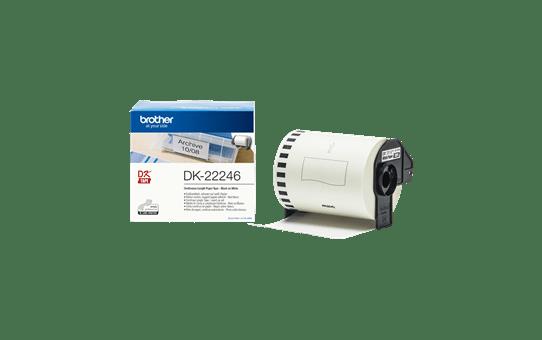 DK-22246 doorlopende rol wit papier 103mm 3