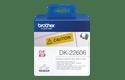 DK-22606 ruban continu film plastique jaune 62mm 2
