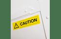 Brother DK22606: оригинальная кассета с непрерывной лентой  для печати наклеек черным на желтом фоне, ширина: 62 мм. 3
