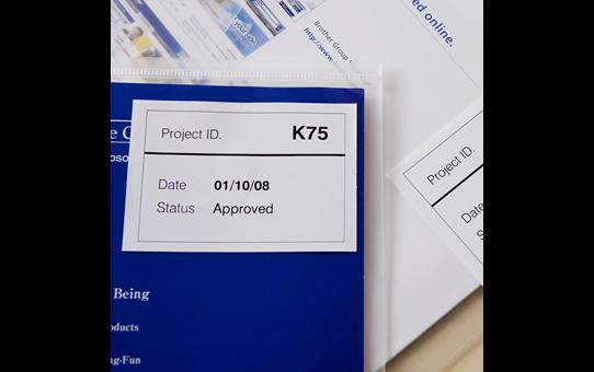 DK-44205 ruban continu papier blanc amovible 62mm 2