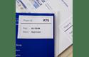 Rotolo di etichette di carta a lunghezza continua con adesivo rimovibile originale Brother DK-44205 – Nero su bianco, 62 mm 2