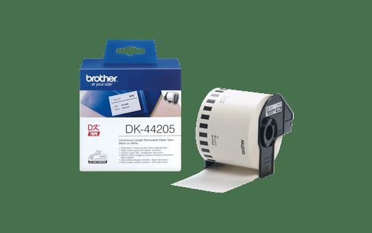 Eredeti Brother DK-44205 könnyen eltávolítható, folytonos papírszalag tekercsben– Fehér alapon fekete, 62mm széles 3