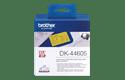 DK-44605 doorlopende rol verwijderbaar geel papier 62mm