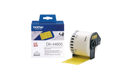 Ruban de papier continu DK-44605 Brother original – Jaune, 62mmx30,48m 3