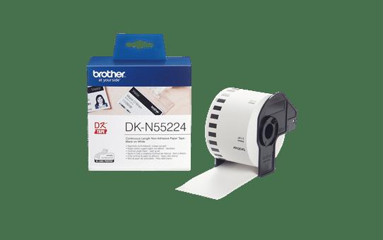 Original DK-N55224 Endlospapierrolle von Brother – Schwarz auf Weiß, nicht klebend, 54mm breit 3