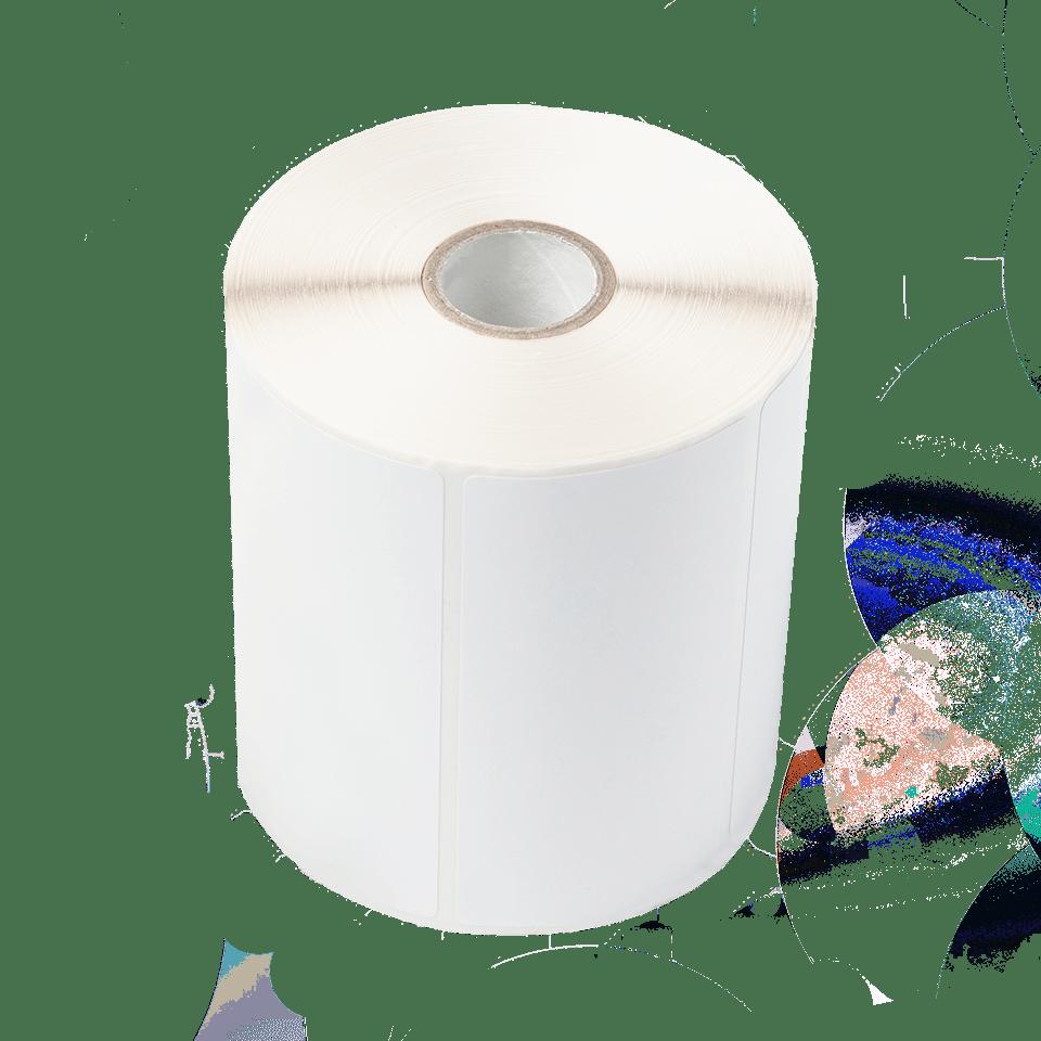 Biała rolka z etykietami do drukarek TD