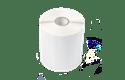 Rolă de etichete albe pre-tăiate simple pentru transfer termic BUS-1J074102-121