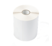 BUS1J150102121 etikettrull med ubelagte etiketter i fast format for termisk overføring
