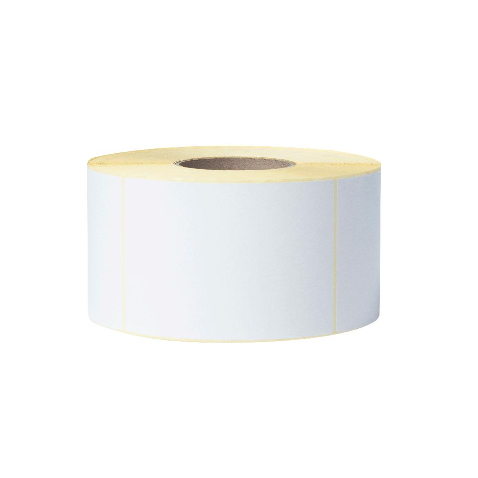 BCS1J150102203 baltas etikečių ritinėlis permatomame fone, priekiu