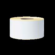 BCS1J150102203 ролка с бял етикет, прозрачен фон - снимка отпред