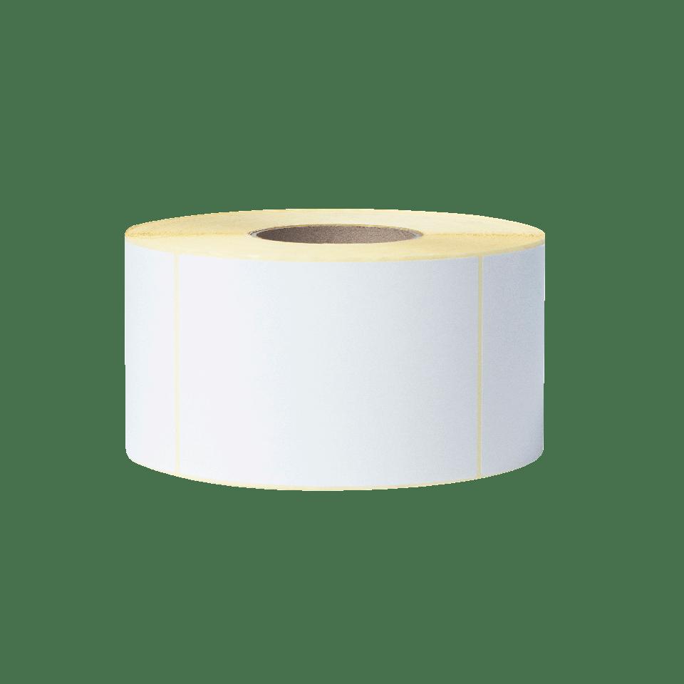 BCS1J150102203 rola de etichete albă pe fundal transparent - față