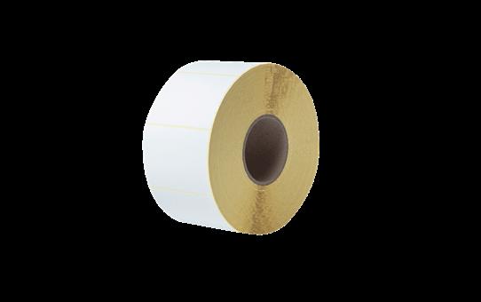 Nedengtas terminio perdavimo iš anksto suskirstytų baltų etikečių ritinėlis BUS-1J074102-203