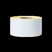 BUS1J074102203 rola de etichete albă pe fundal transparent - față