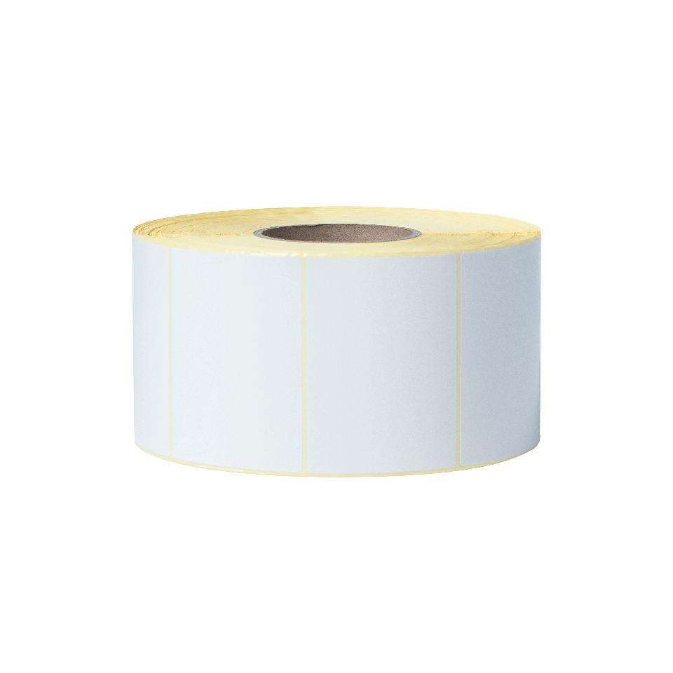 Brother BUS1J074102203 hvit etikettrull i fast format ubelagt, 102 x 74 mm