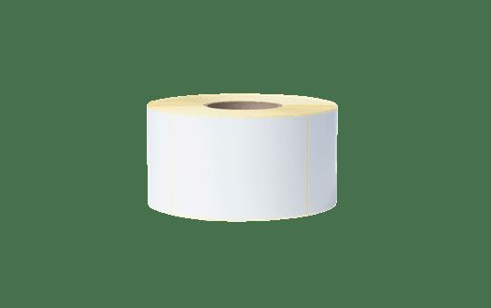 BUS-1J150102-203 Unbeschichtete Etikettenrolle mit vorgestanzten, weissen Thermotransfer-Etiketten 2