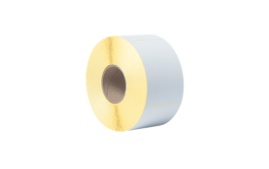 BUS-1J150102-203 Voorgestanste, thermo-transfer labelrol – ongecoat wit  3