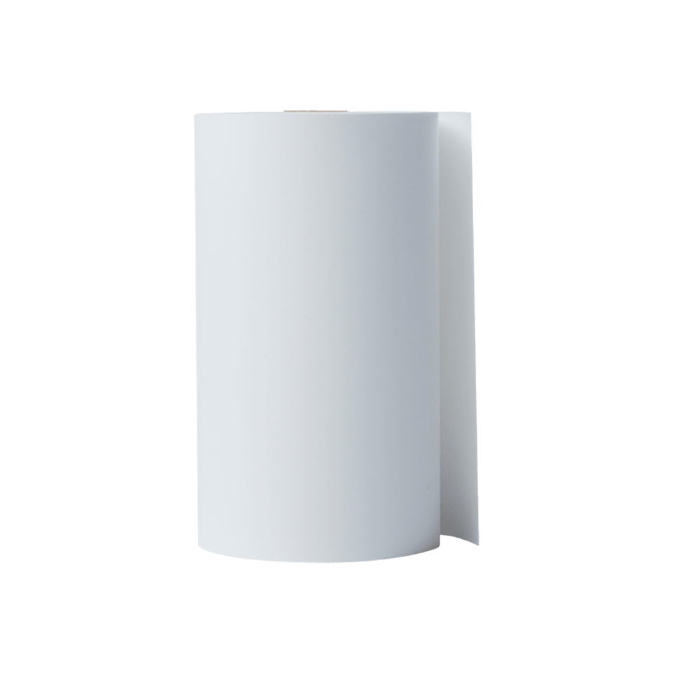 Brother BDL7J000102058 hvit kvitteringsrull i løpende lengde, 101,6 mm bredde x  32,2 m lengde per rull stående