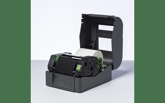 Premium vaska/sveķu (wax/resin) termo pārneses melna tintes lente BSP-1D300-110 2