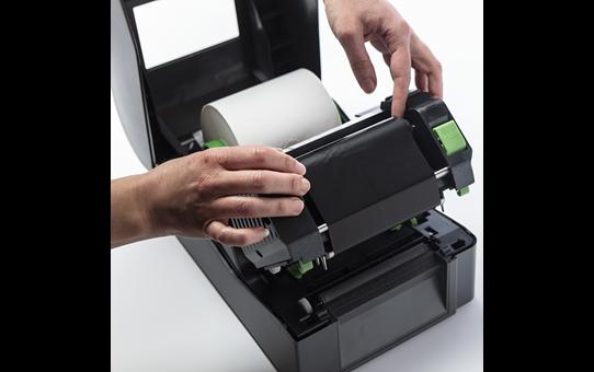 Išskirtinės kokybės vaško/dervos terminio perdavimo juodo rašalo juosta BSP-1D300-110 3